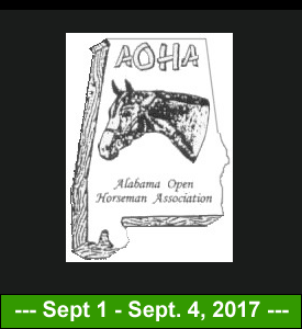 Sept 1st – 4th, 2017 – AOHA: Alabama Open Horse Association Labor Day Horse Show