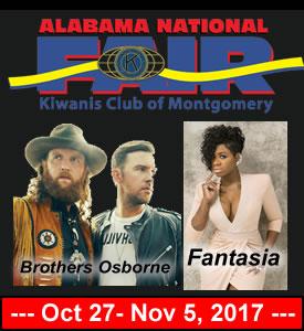 October 27- November 5, 2017 – ALABAMA NATIONAL FAIR