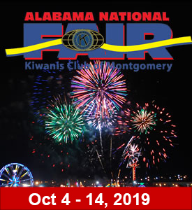 October 4 to October 14, 2019 – ALABAMA NATIONAL FAIR