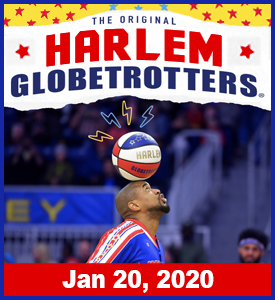 HARLEM GLOBETROTTERS BRING THEIR SPECTACULAR SHOW TO MONTGOMERY ON JANUARY 20TH