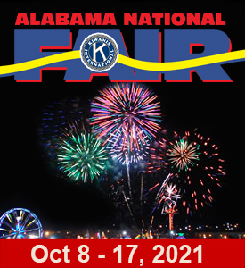October 8 to October 17, 2021 – ALABAMA NATIONAL FAIR