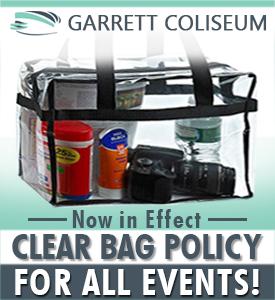 GARRETT COLISEUM CLEAR BAG POLICY